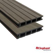 Elephant | Vlonderplank hol composiet | Antraciet | 25 x 145 mm lengte 400 cm (2 stuks)
