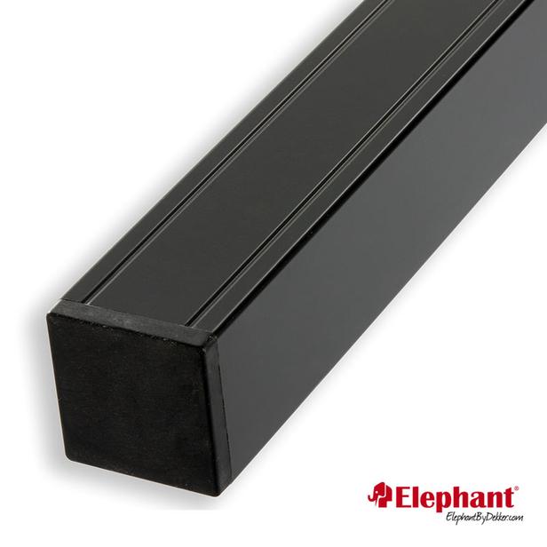 Elephant | Aluminium paal/kap | Antraciet | 68x68 mm lengte 135 cm