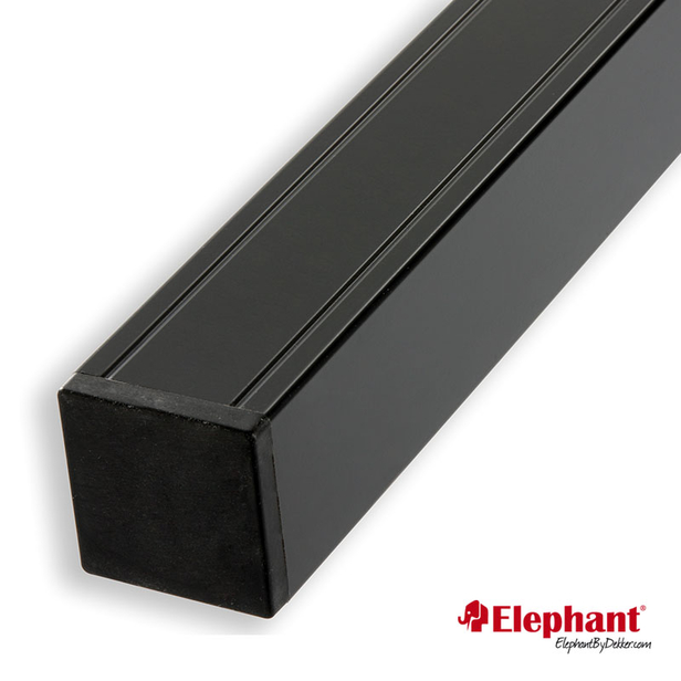 Elephant | Aluminium paal/kap | Antraciet | 68x68 mm lengte 186 cm
