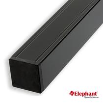 Elephant | Aluminium paal/kap | Antraciet | 68x68 mm lengte 272 cm
