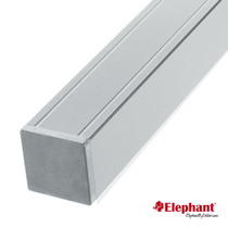 Elephant | Aluminium paal/kap | Grijs | 68x68 mm lengte 186 cm
