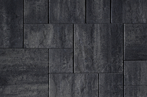 Kijlstra | H2O Excellent Reliëf Square 80x40x5 | Nero/Grey Emotion