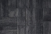 Kijlstra   H2O Excellent Reliëf Square 80x40x5   Nero/Grey Emotion