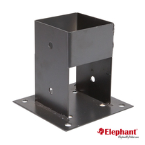 Elephant | Paalhouder met voet 70x70 mm | Antraciet