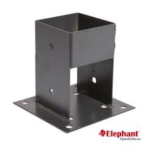 Elephant | Paalhouder met voet 90x90 mm | Antraciet