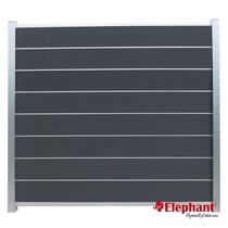 Elephant | Tuinscherm Modular | 180x180 cm | Rock Grey/Aluminium