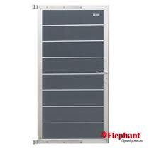 Elephant | Tuindeur Modular | 90x180 cm | Rock Grey/Aluminium