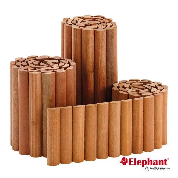 Elephant | Borderrol | Hardhout | 180x20 cm