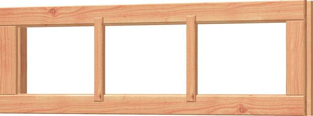Trendhout | Vast panoramaraam | 107.2x34.2 cm | Onbehandeld