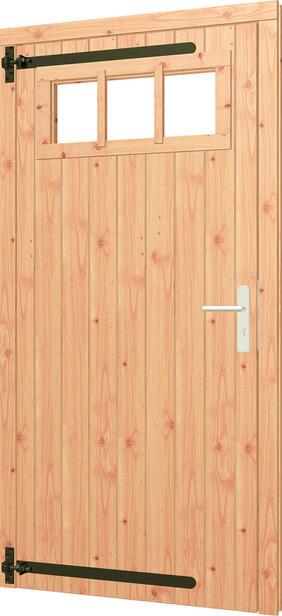 Trendhout | Opgeklampte deur met bovenraam | Linksdraaiend | Onbehandeld