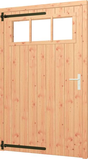 Trendhout   Opgeklampte deur XL met bovenraam   Linksdraaiend   Onbehandeld