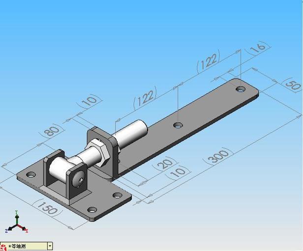 Westwood | Verstelbaar poortbeslag met heng 300 mm| RVS