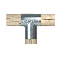 Paal verbinder 3-weg verbindingsstuk | 100 mm | 2-delig