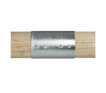 Paal verbinder 2-weg verbindingsstuk | 100 mm | 2-delig