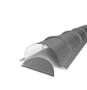 ArcelorMittal | Eindstuk voor Ovale Nok | 8004 Koperbruin glans