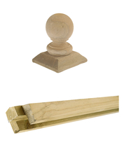 Gardival | Houten sierstuk voor vierkantpalen | Sierbol