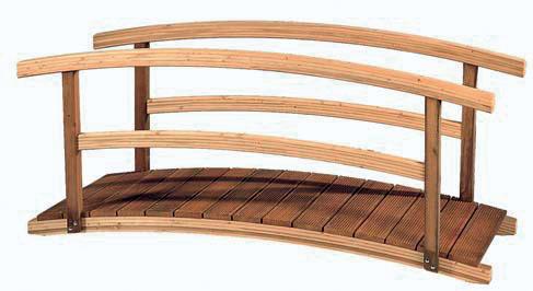 Gardival | Vijverbrug met boogleuning | 240x90 cm