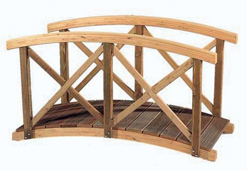 Gardival | Vijverbrug met kruisleuning | 240x90 cm