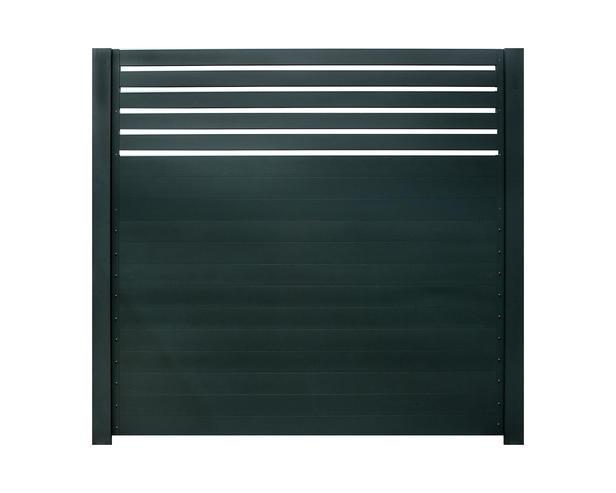 IdeAL | Aluminium scherm met trellis 180x180 | Antraciet