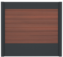 IdeAL scherm | Antraciet - Symmetry Cinnabar | 180x180 | 9 planks