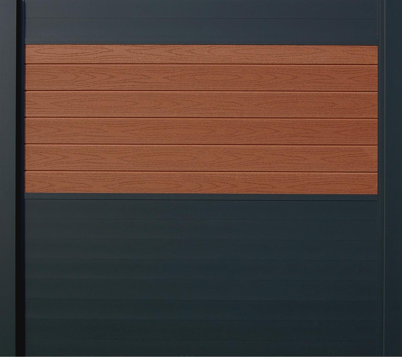IdeAL scherm | Antraciet- Prof. bruin | 180x180 | 6 planks