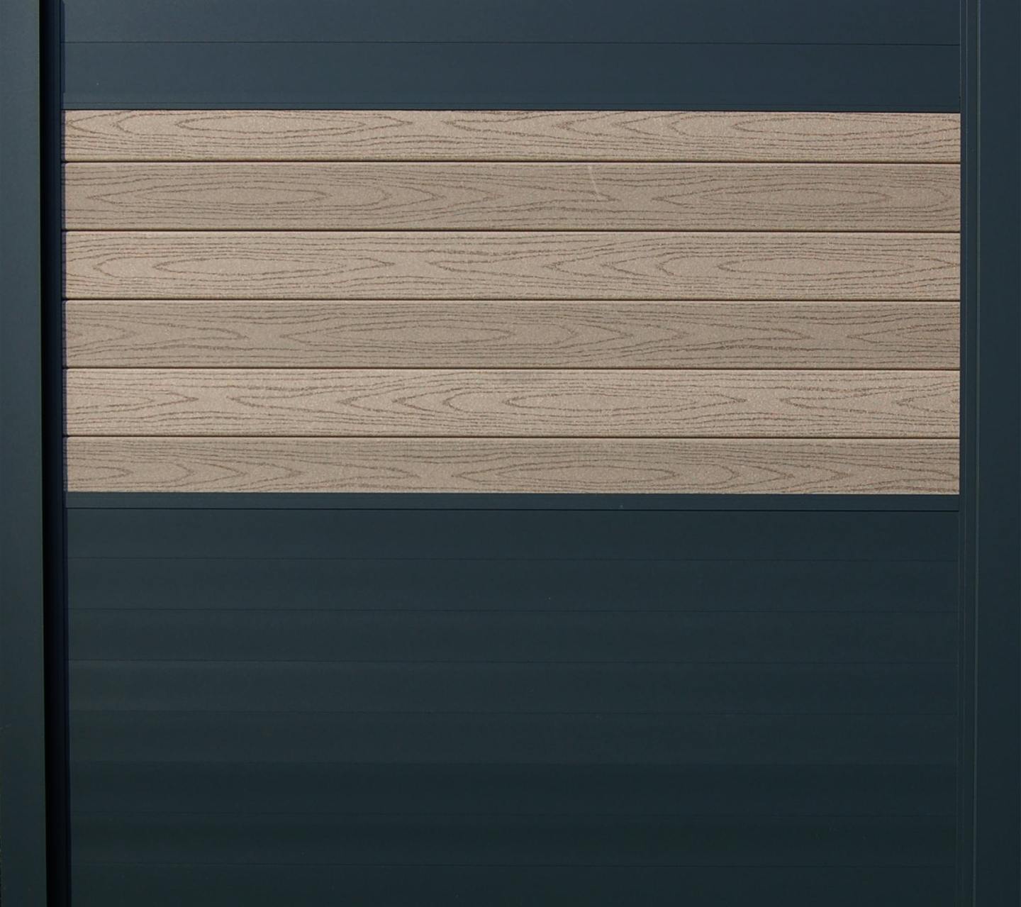 IdeAL scherm | Antraciet- Prof. grijs | 180x200 | 6 planks