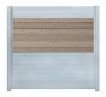 IdeAL scherm | Zilver- Prof. Grijs | 180x180 | 6 planks