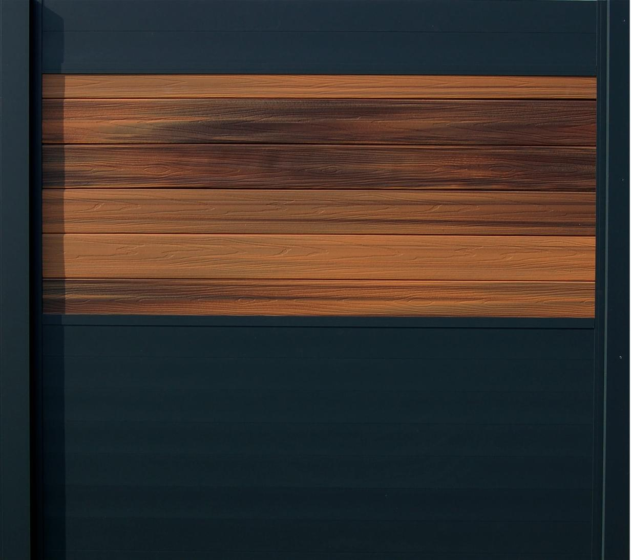 IdeAL scherm | Antraciet- Horizon Ipé | 180x200 | 6 planks