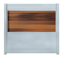IdeAL | Scherm Zilver- Horizon Ipé | 180x180 | 6 planks