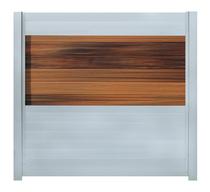 IdeAL   Scherm Zilver- Horizon Ipé   180x200   6 planks