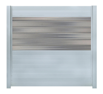 IdeAL scherm | Zilver- Horizon Castle Grey | 180x180 | 6 planks
