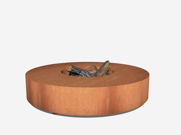 BURNI | Vuurtafel 125 x 28 cm