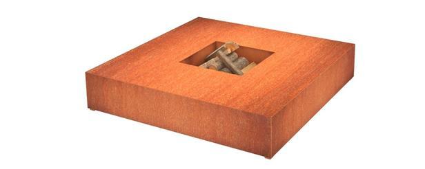 BURNI   Vuurtafel vierkant type 2