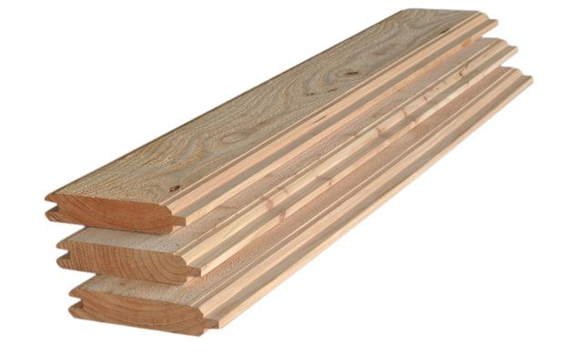 Blokhutprofielplank | Fijnbezaagd / Glad | Douglas | 28 x 145 | 300 cm
