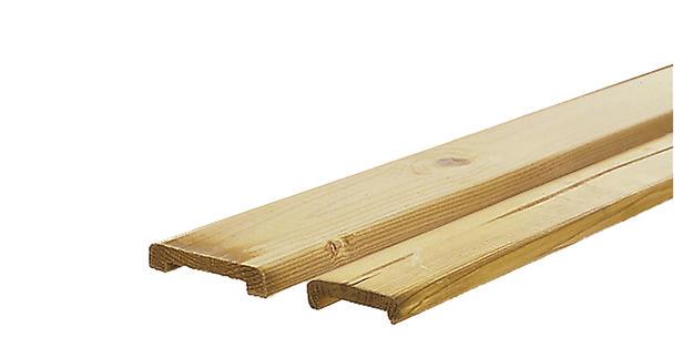 Afdeklat Grenen Vlak 180cm | Sponning 6.2 cm