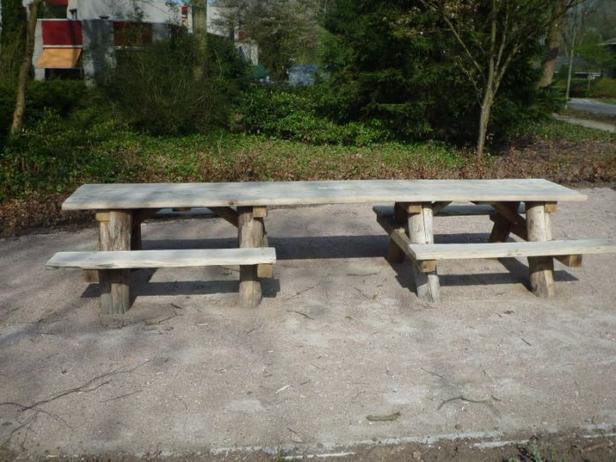 Picknicktafel | Geschikt voor rolstoelen | 400cm