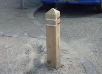 Eiken anti-parkeerpaal | 140cm