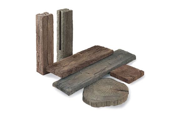 Redsun marshalls timberstone tussenpaal coppice brown for Schellevis tegels aanbieding