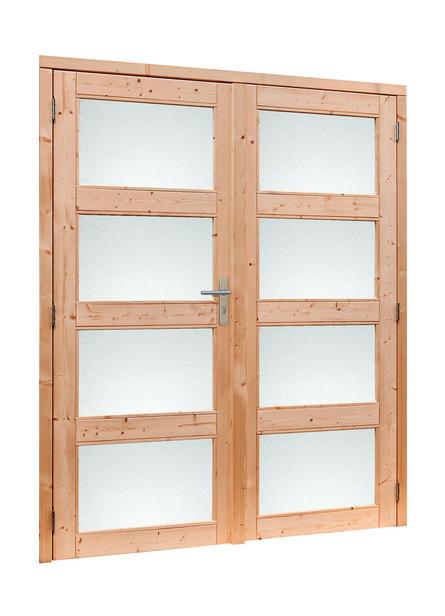 Douglasvision | Dubbele glasdeur 4-ruits met melkglas