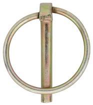 Borgpen 4.5x35mm verzinkt staal met ring