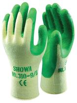 Werkhandschoenen latex groen Showa310grip maat