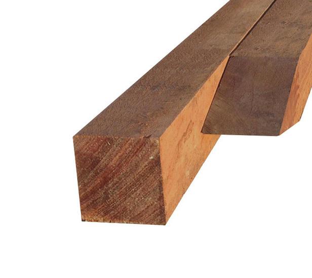 Hardhouten paal | 80 x 80 mm | Azobé | 245 cm