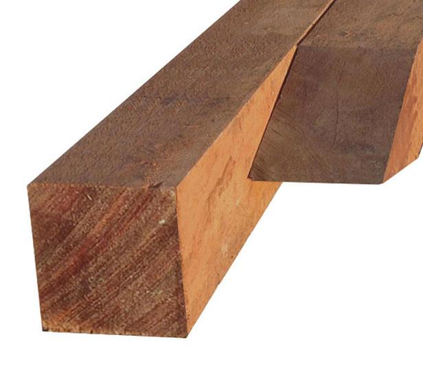 Hardhouten paal | 100 x 100 mm | Azobé | 250 cm