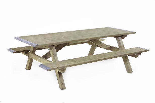 Talen | Picknicktafel, dicht blad en zitting | 160x230