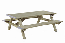Talen | Picknicktafel | 160x200 | 45mm dik