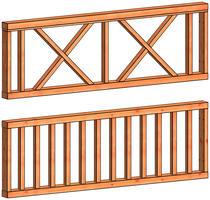 Trendhout | Veranda spijlen hekwerk D | 70x211 cm