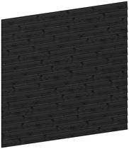 Trendhout | Wandmodule C potdekselplanken zwart | 276x220 cm