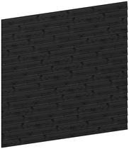 Trendhout | Wandmodule D potdekselplanken zwart | 211x220 cm