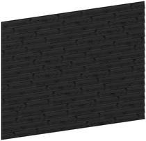 Trendhout | Wandmodule E potdekselplanken zwart | 340.5x220 cm