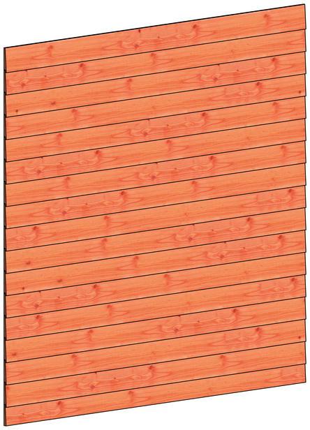 Trendhout | Wandmodule H potdekselplanken | 223x220 cm
